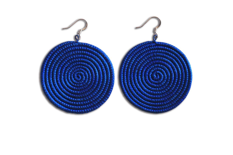 Woven Disc Basket : Woven disc earrings large azizi life