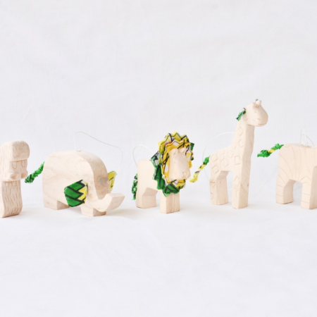 Carved Safari Animal Ornaments