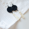 Black inshunda tassel earring