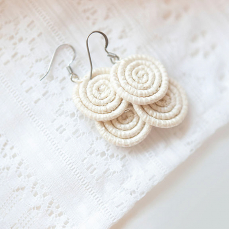 Kimwe natural white earring