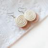 Kinga coral earrings
